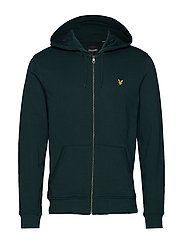 Zip Through Hoodie - JADE GREEN