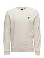 Crew Neck Sweatshirt - SEASHELL WHITE