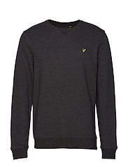 Crew Neck Sweatshirt - CHARCOAL MARL