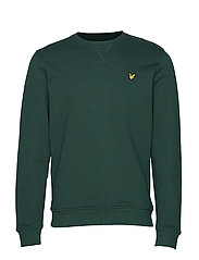 Crew Neck Sweatshirt - JADE GREEN