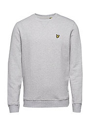 Crew Neck Sweatshirt - LIGHT GREY MARL