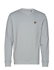 Crew Neck Sweatshirt - LIGHT SILVER