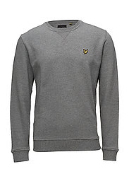 Crew Neck Sweatshirt - MID GREY MARL