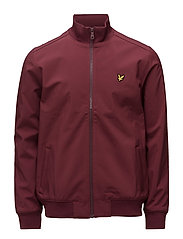 Zip Through Funnel Neck Soft Shell Jacket - CLARET JUG