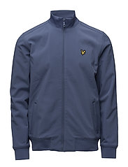 Zip Through Funnel Neck Soft Shell Jacket - STORM BLUE