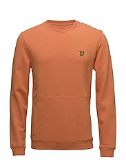 Front Pocket Sweatshirt - FOX ORANGE