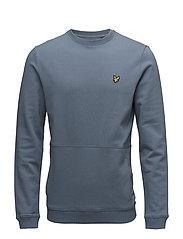 Front Pocket Sweatshirt - MIST BLUE