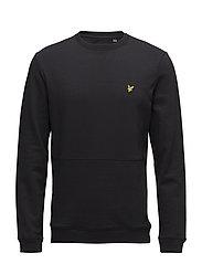 Front Pocket Sweatshirt - TRUE BLACK