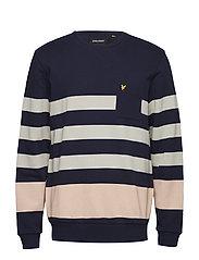 Stripe Sweatshirt - NAVY