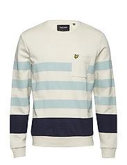 Stripe Sweatshirt - SEASHELL WHITE
