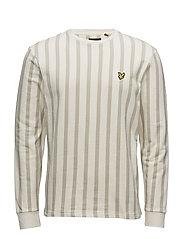 Deckchair Stripe Sweatshirt - SEASHELL WHITE