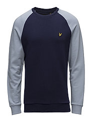Lightweight Raglan Sweatshirt - STONEWASH BLUE