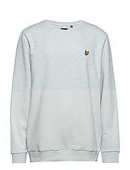 Block Marl Sweatshirt - GREY BLUE