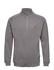 Mouline Zip Through Sweatshirt - GREY CLOUD