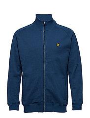 Mouline Zip Through Sweatshirt - PETROL