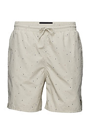 Micro Print Swim Short - SEASHELL WHITE