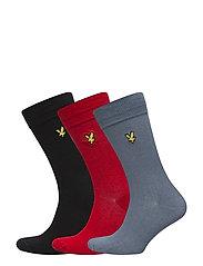 Plain Socks - 3 Packs - ASSORTED
