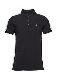 Side Stripe Poloshirt - TRUE BLACK