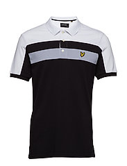 Colour Block Polo Shirt - TRUE BLACK
