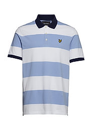 Wide Stripe Polo Shirt - BLUE SMOKE
