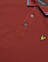 Lyle & Scott - Tipped Slim Stretch Polo Shirt - lyhythihaiset - brick red/ blue dust - 2