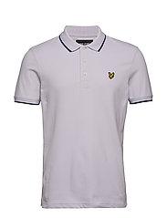 Tipped Slim Stretch Polo Shirt - LILAC