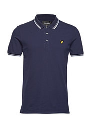 Tipped Slim Stretch Polo Shirt - NAVY