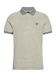 Stripe Polo Shirt - LEMON/ MID GREY MARL
