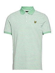 Stripe Polo Shirt - SEA MINT/ LIGHT GREY