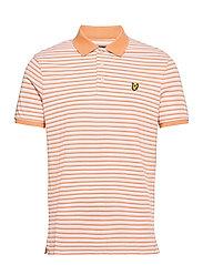 Stripe Polo Shirt - STONEWASH PINK/ MELON