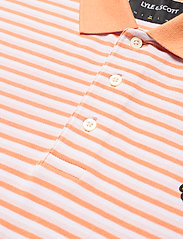 Lyle & Scott - Stripe Polo Shirt - polos à manches courtes - stonewash pink/ melon - 2
