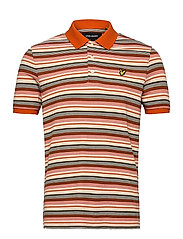 Stripe Polo Shirt - BURNT ORANGE