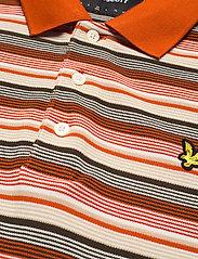 Lyle & Scott - Stripe Polo Shirt - polos à manches courtes - burnt orange - 2