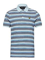 Stripe Polo Shirt - DECK BLUE