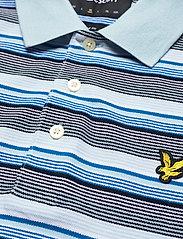 Lyle & Scott - Stripe Polo Shirt - polos à manches courtes - deck blue - 2