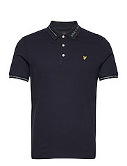 Seasonal Branded Collar Polo Shirt - DARK NAVY