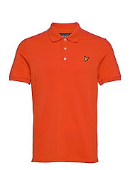 Plain Polo Shirt - BURNT ORANGE