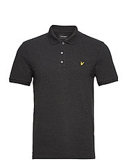 Plain Polo Shirt - CHARCOAL MARL