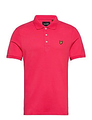 Plain Polo Shirt - GERANIUM PINK