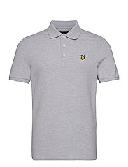 Plain Polo Shirt - LIGHT GREY MARL