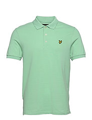 Plain Polo Shirt - SEA MINT