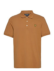 Plain Polo Shirt - TAWNY BROWN