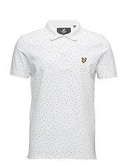 Mini Square Dot Polo Shirt - WHITE