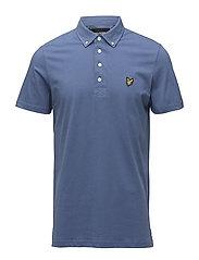 Woven Collar Polo Shirt - STORM BLUE