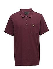 Zip Pocket Polo Shirt - CLARET JUG