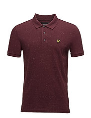 Flecked Polo Shirt - CLARET JUG