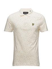 Climbing Wall Print Polo Shirt - SEASHELL WHITE