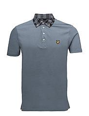 Woven Collar Polo Shirt - MIST BLUE