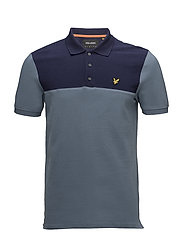 Yoke Polo Shirt - MIST BLUE