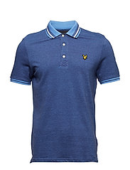 Oxford Tipped Polo Shirt - CORNFLOWER BLUE